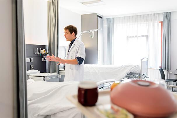 Patiëntenkamer in het St. Michiel Europaziekenhuis